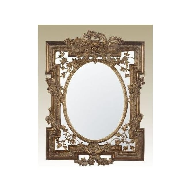 Gold Antique French Style Mirror