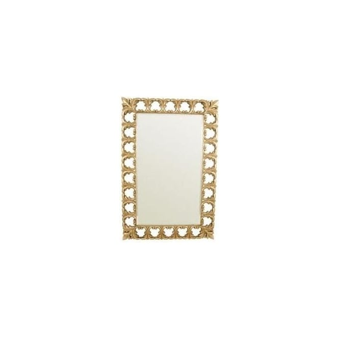 Gold Antique French Style Rectangle Frame Mirror
