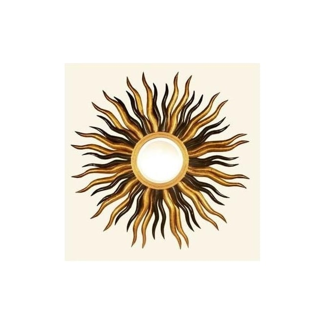 Gold & Black Sun Mirror