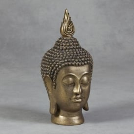 Gold Buddha Head Statue