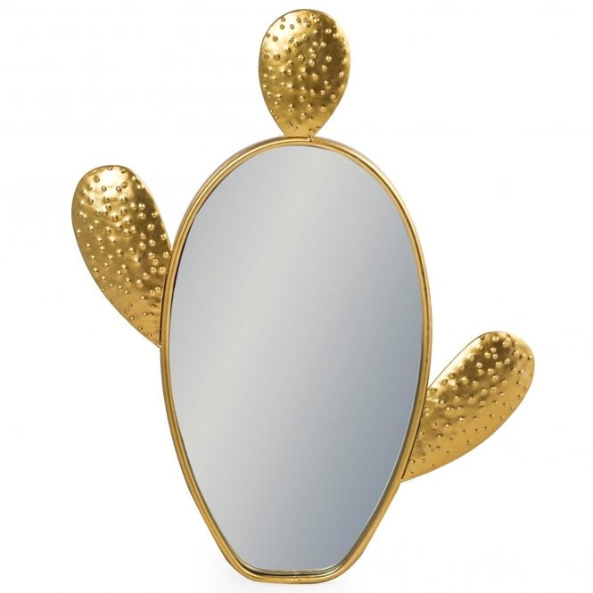 Gold Cactus wall Mirror