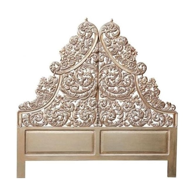 Gold Carved Antique French Style Headboard