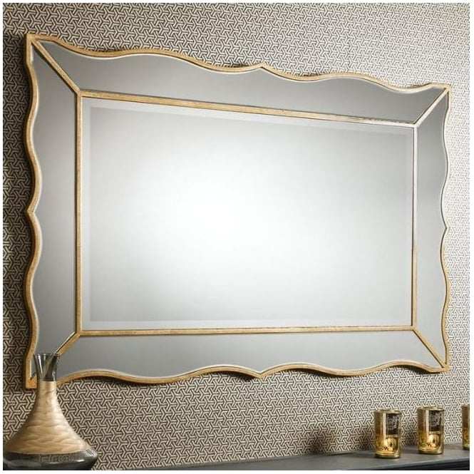 Gold Cassius Antique French Style Mirror