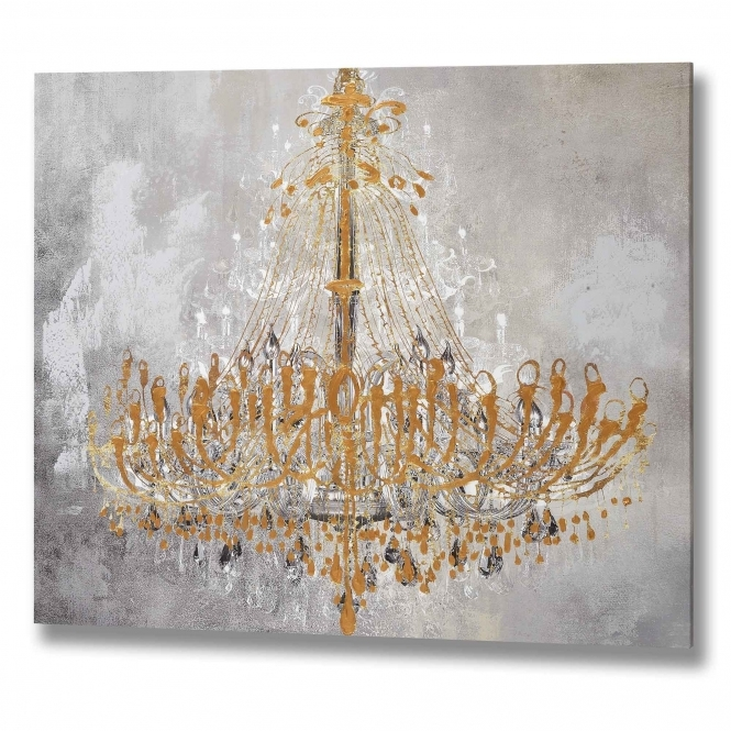 Gold Chandelier Wall Art