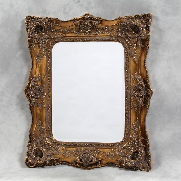 Gold Classic Antique French Style Mirror Decorative Gold