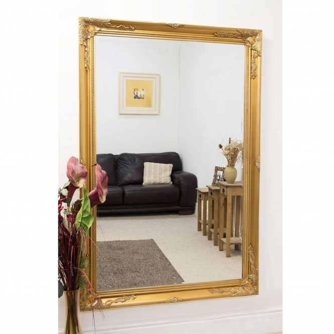 Gold Decorative Antique French Style Mirror