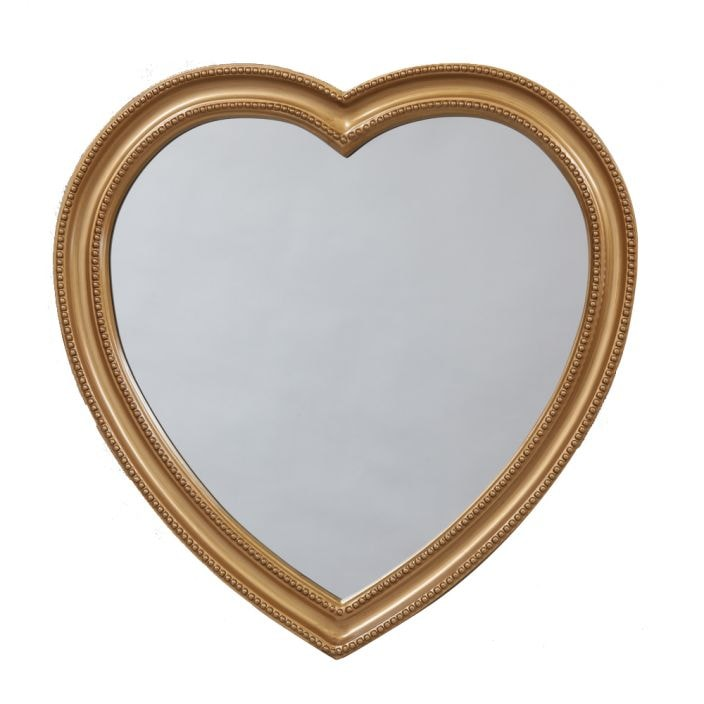 Gold Framed Heart Mirror Collection Of Gold Decorative