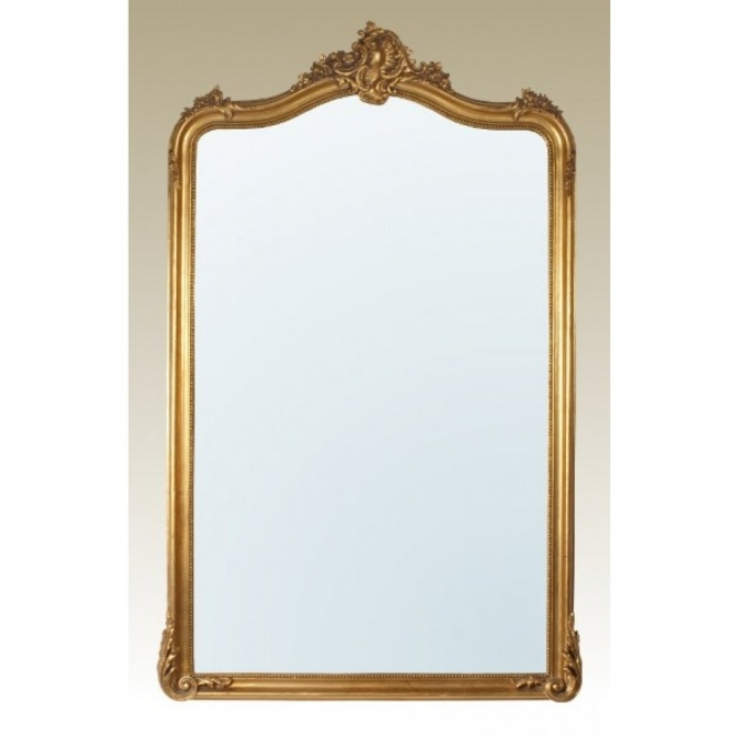 Gold Gilt Leaf Antique French Style Mirror