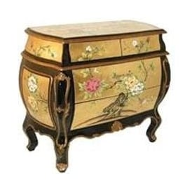 Gold Leaf Antique French Style Chest of Drawers