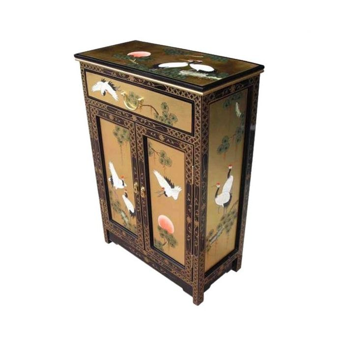 Gold Leaf Chinese Cabinet, Antique Chinese Furniture Uk