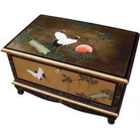 Gold Leaf Chinese TV Cabinet