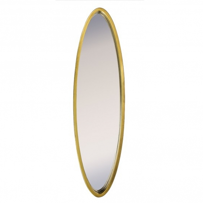Gold Long Oval Mirror