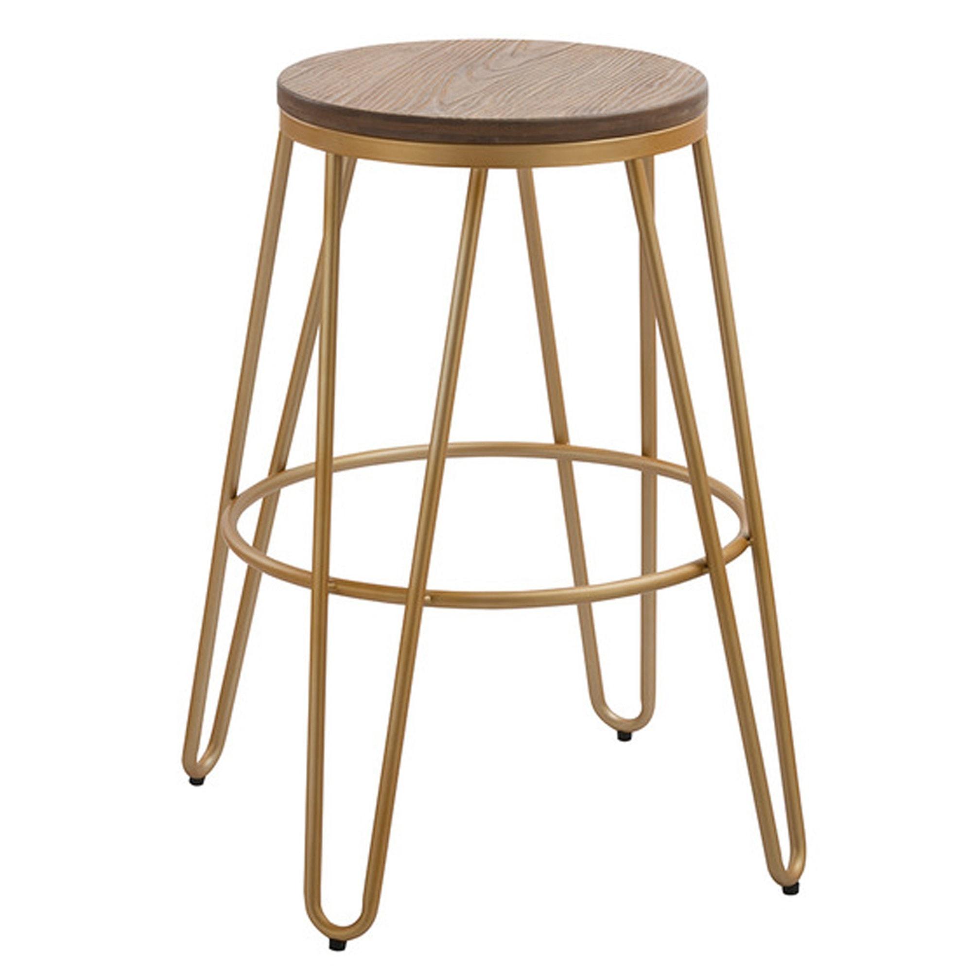 Astonishing Gold Metal Bar Stool Machost Co Dining Chair Design Ideas Machostcouk