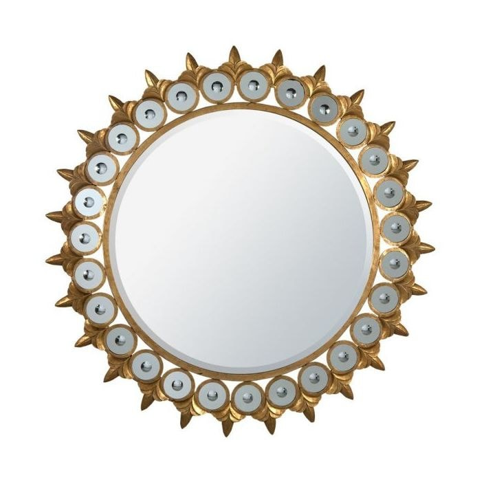 Gold Metal Framed Mirror