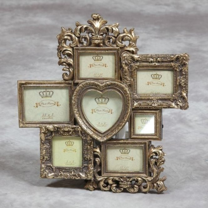 Gold Multi Antique French Style Photo Frame