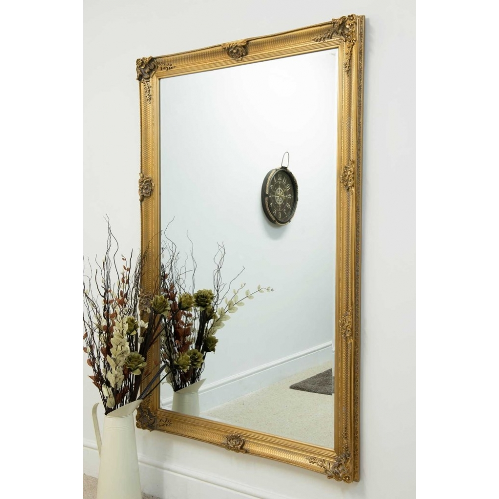 Gold Ornate Antique French Style Mirror Decorative Mirrors