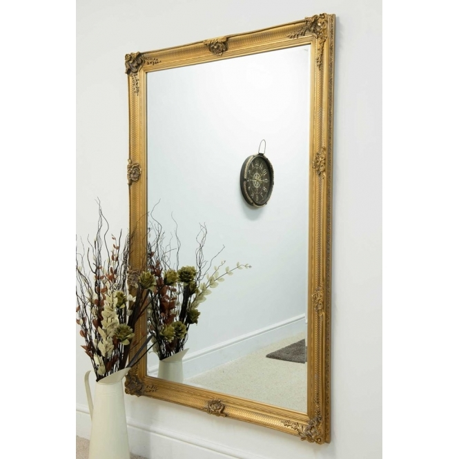 Gold Ornate Antique French Style Mirror