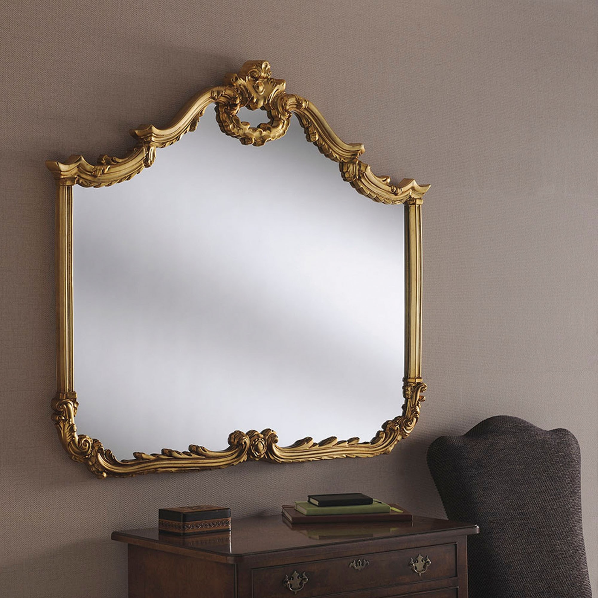 Gold Ornate Overmantle Mirror Gold Overmantle Mirror