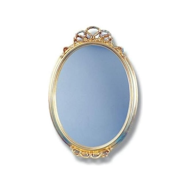 Gold Oval Antique French Style Mirror
