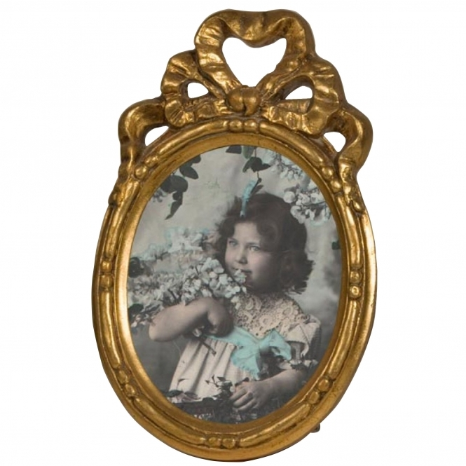 Gold Oval Antique French Style Photo Frame