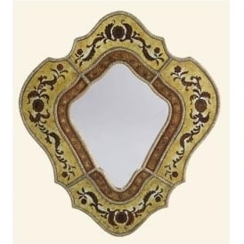 Gold Patterned Mirror