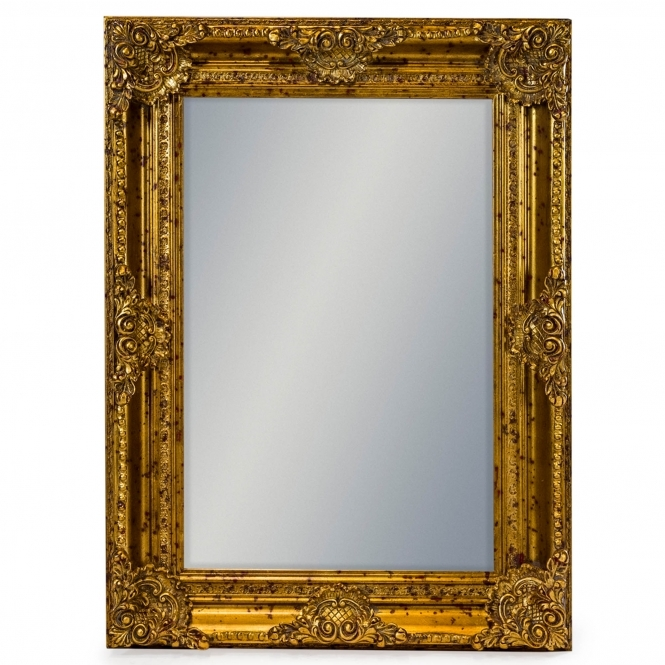 Gold Rectangular Antique French Style Mirror