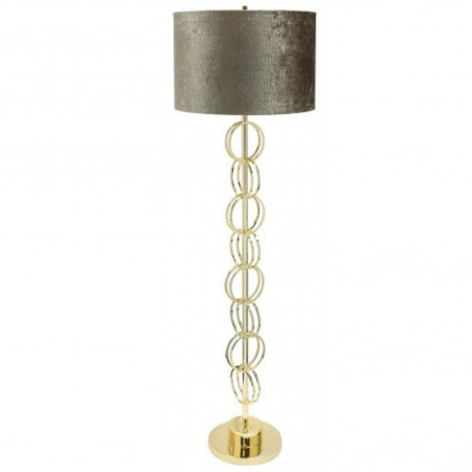 Gold Ring Floor Lamp