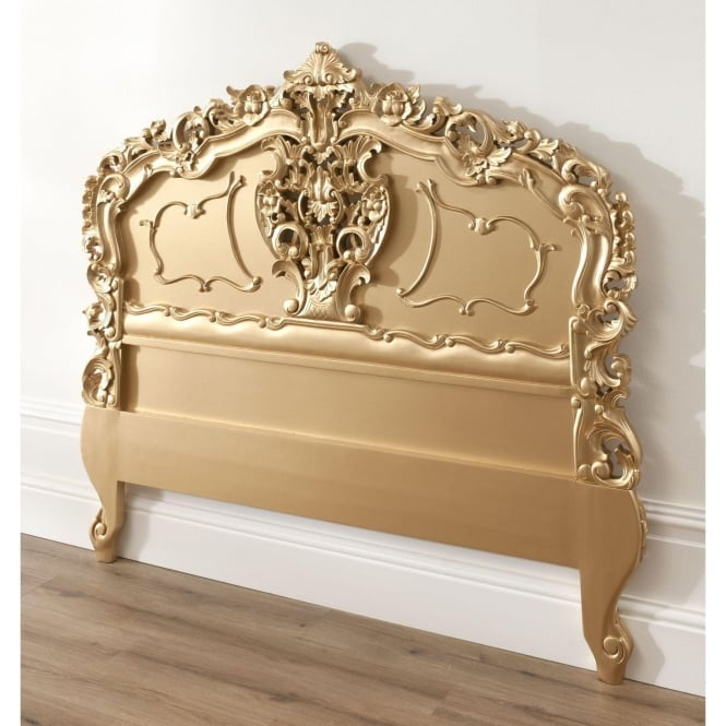 Gold Rococo Antique French Headboard Working Exceptional