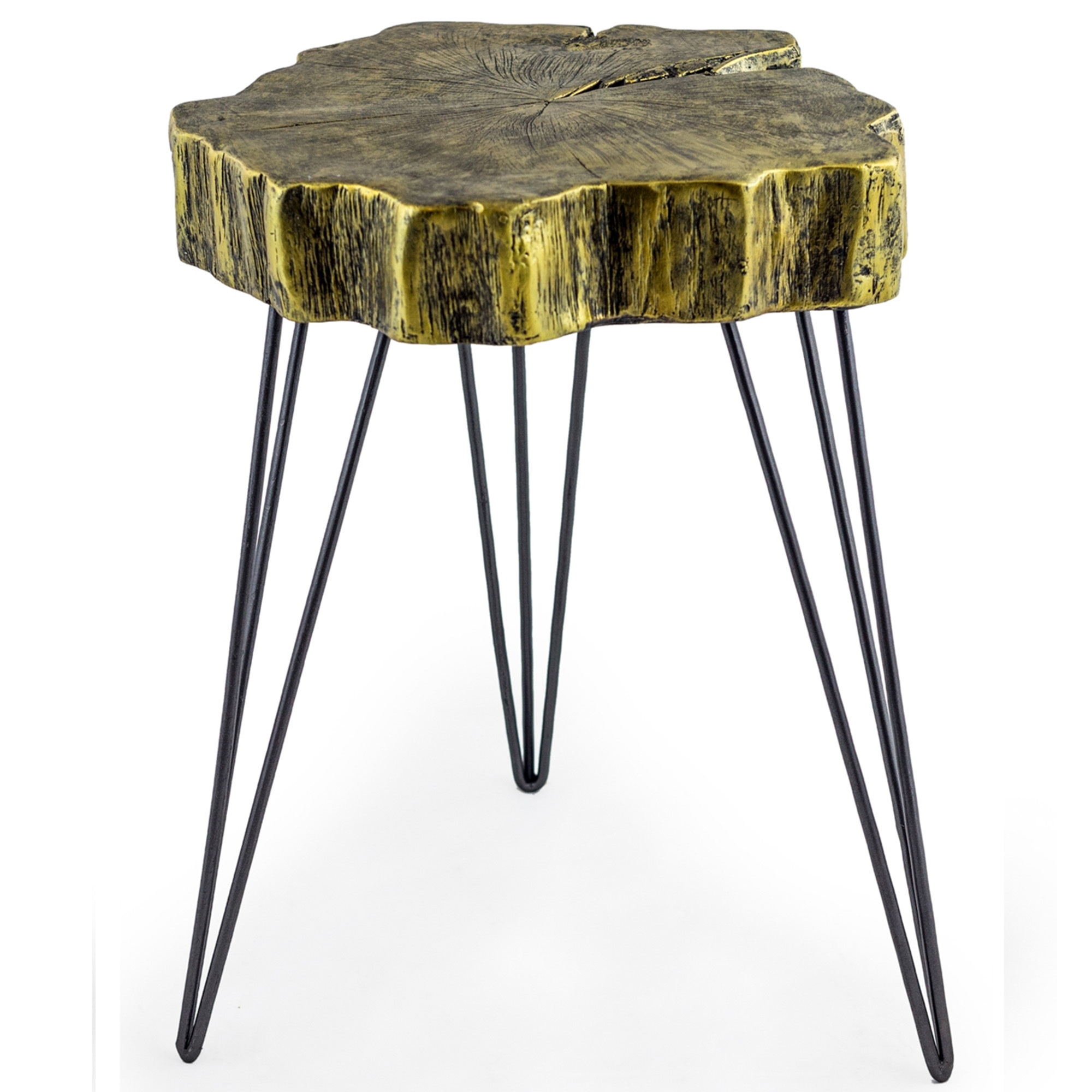 Gold Tree Trunk Side Table Side Table Homesdirect365