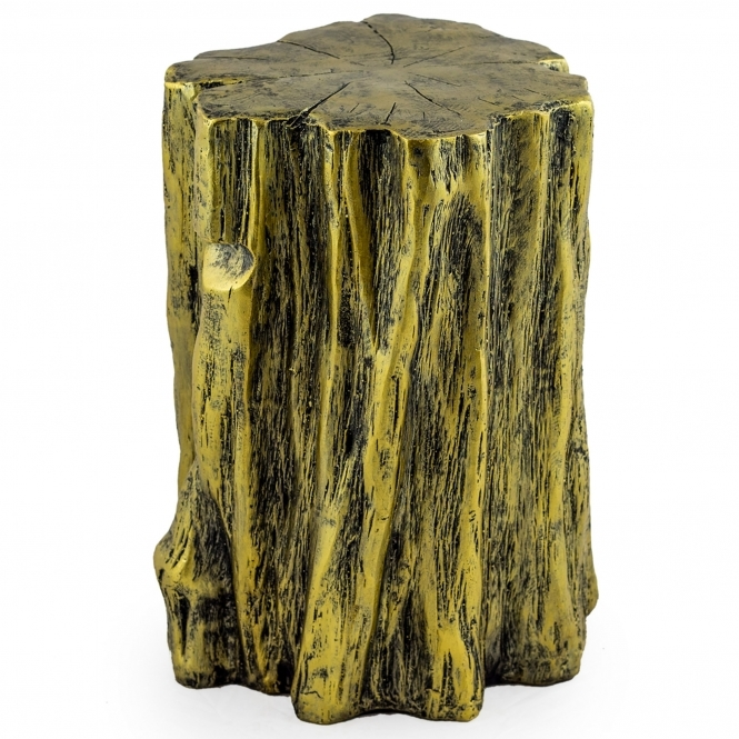 Gold Tree Trunk Stool