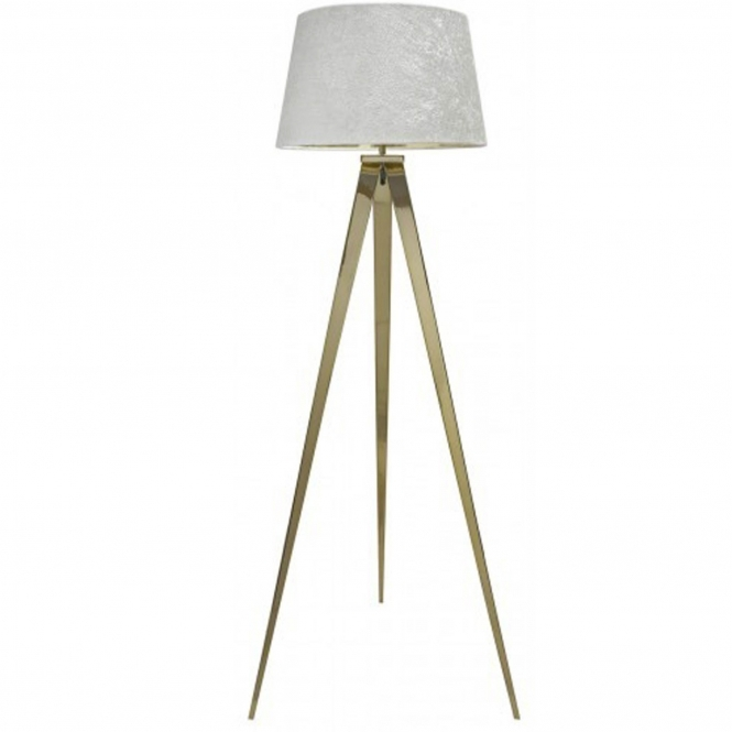 Gold Tri-stand Floor Lamp