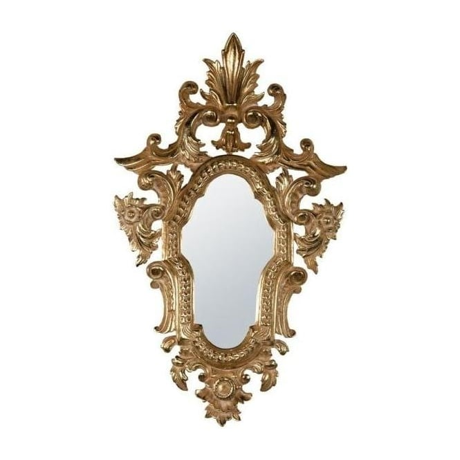 Gold Wooden Frame Antique French Style Mirror