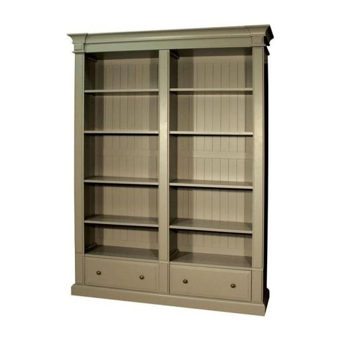 Grey Antique French Style Bookcase