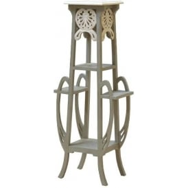 Grey Antique French Style Plant Stand
