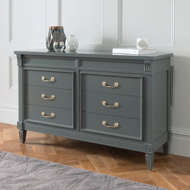 Grey Antique French Style Sideboard French Style Dining
