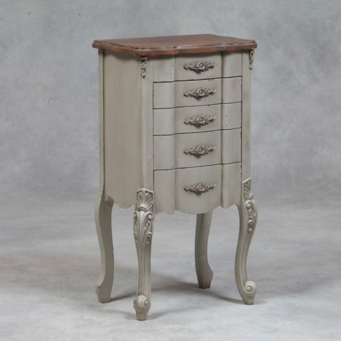 Grey Antique French Style Tallboy Chest