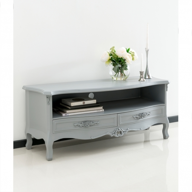Grey Antique French Style TV Stand