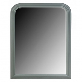 Grey Bevelled Arched Mirror