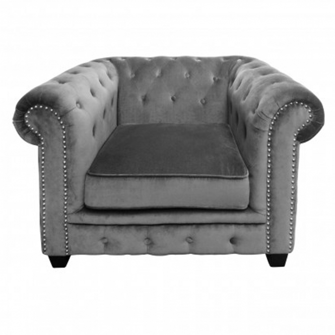Grey Chesterfield Chair