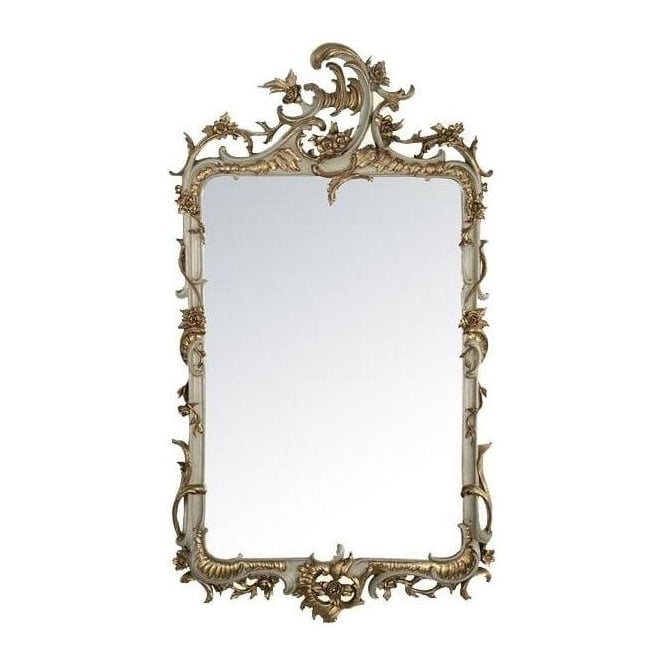 Grey & Gold Antique French Style Mirror