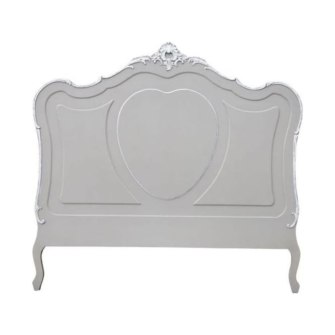 Grey Kingsize Antique French Style Headboard