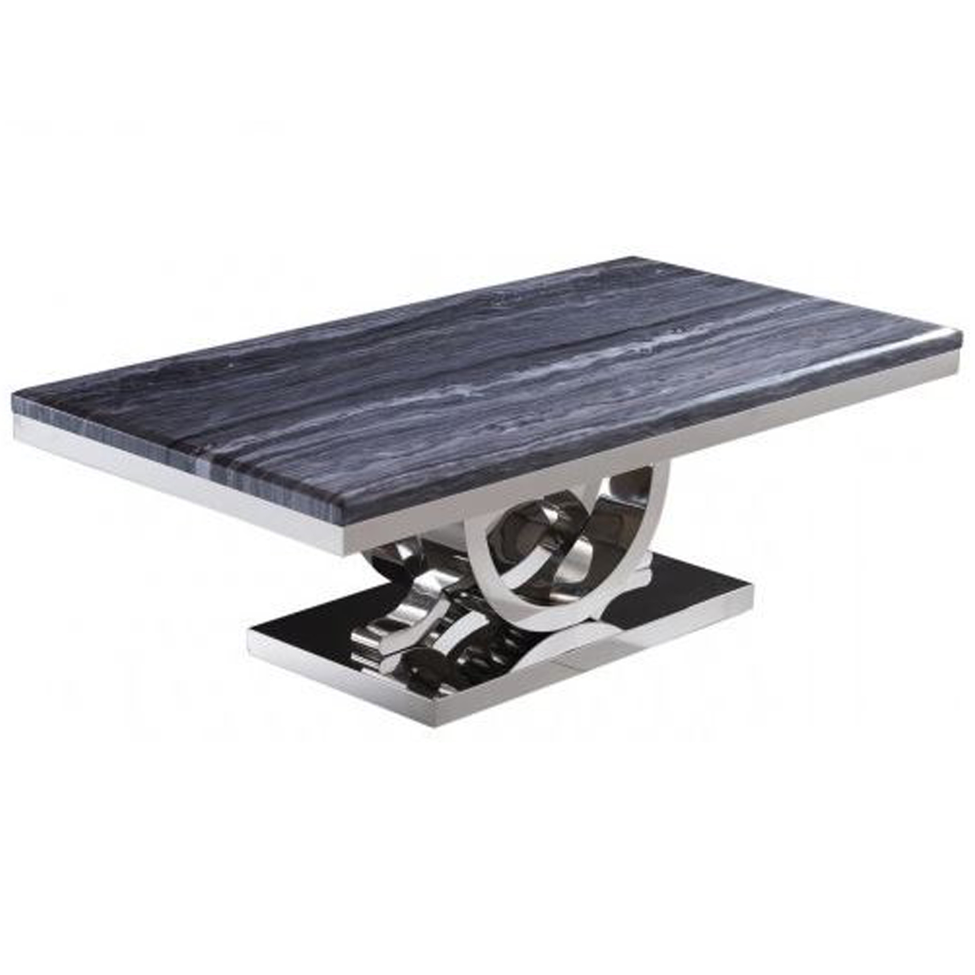 Oracle Grey Marble Coffee Table: Grey Marble Mirrored Coffee Table