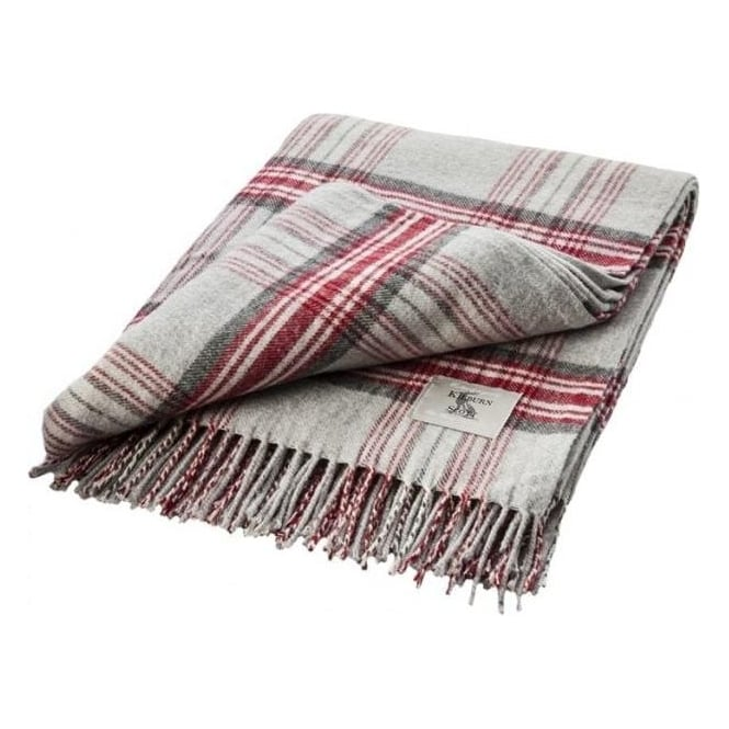 Grey & Red Heritage Plaid Throw
