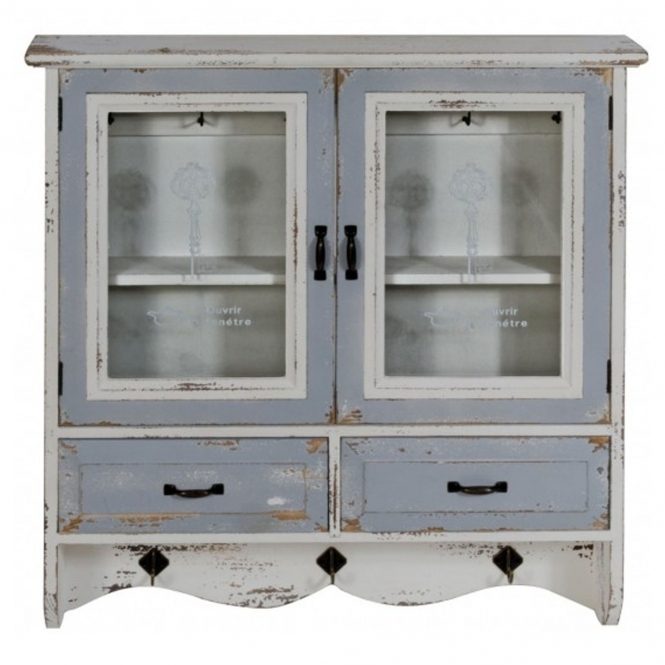 Grey Shabby Chic Wall Cabinet