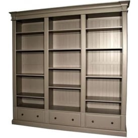 Grey Triple Antique French Style Bookcase