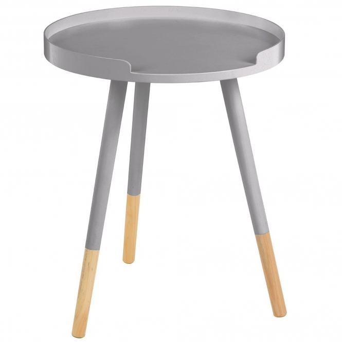 Grey Viborg Round Side Table