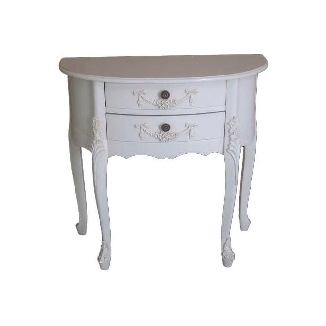 Half Moon Antique French Style Table