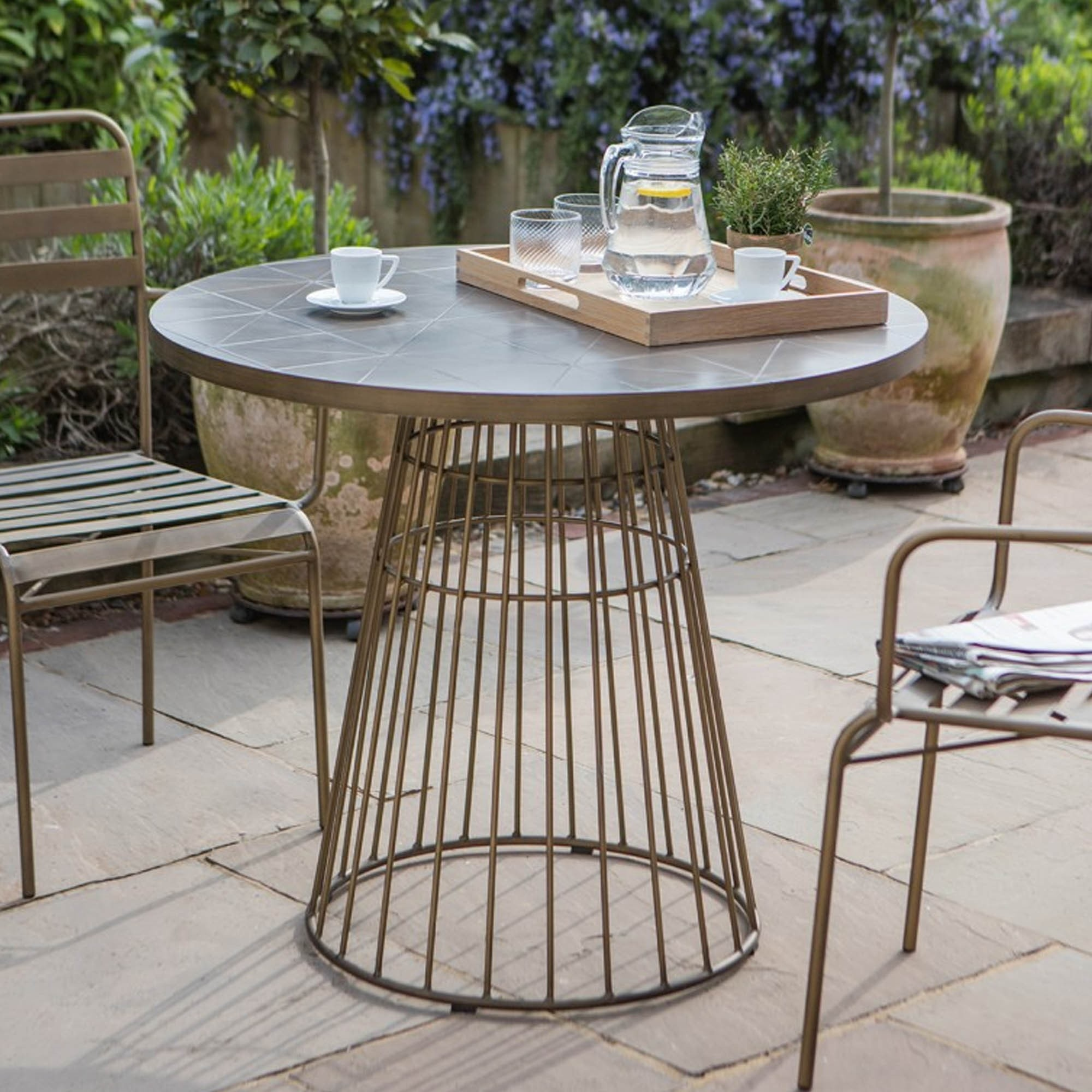 Halstow Bistro Table Outdoor Table Modern Dining Table
