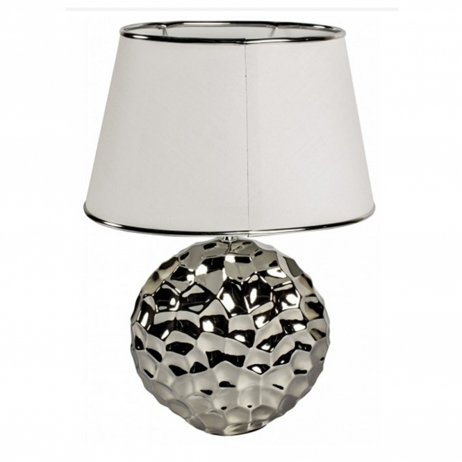 Hammered Silver Table Lamp