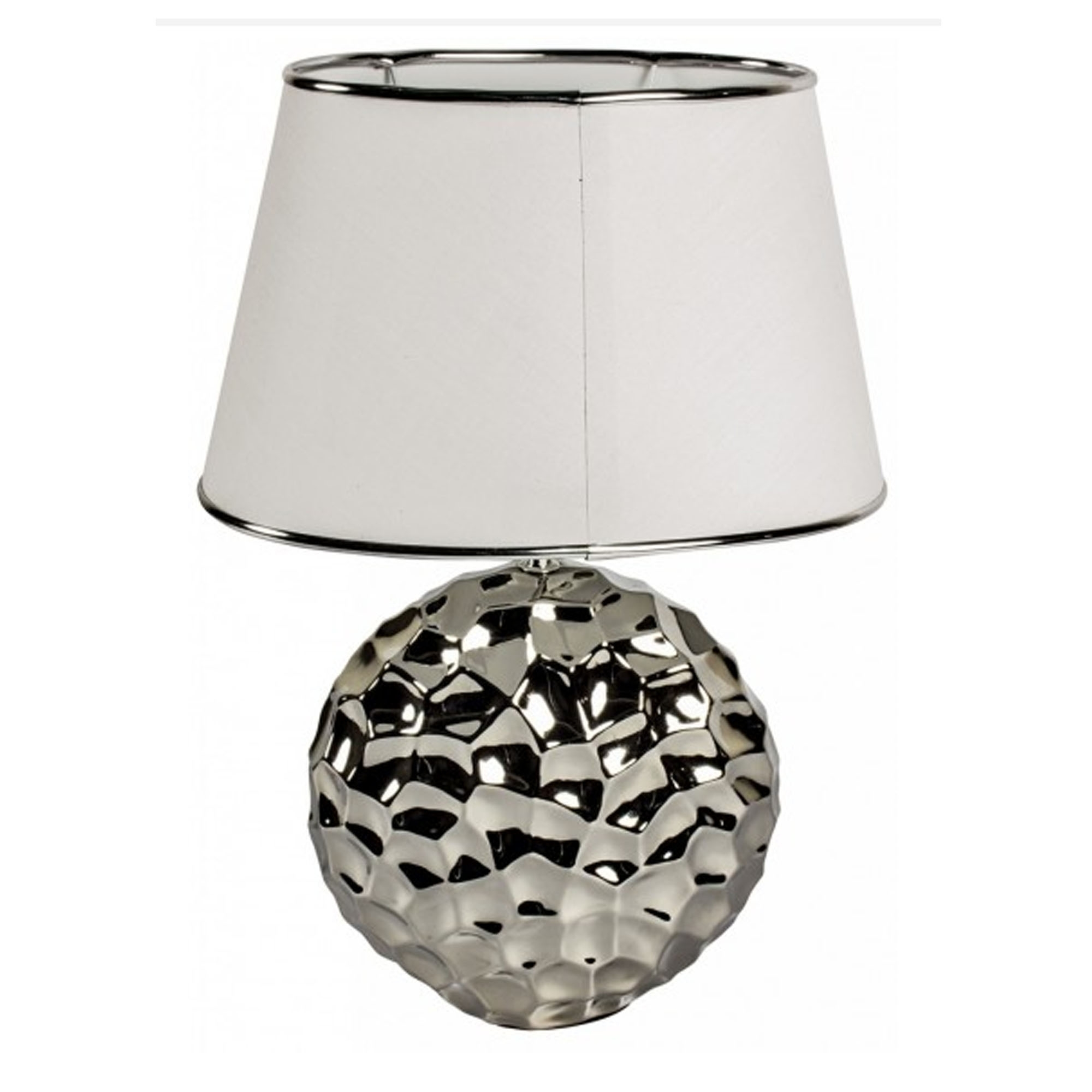 lamp zoom table contemporary modern silver furniture hammered